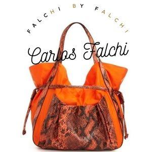 Carlos Falchi Fatto a Manno Brazil Python Bag